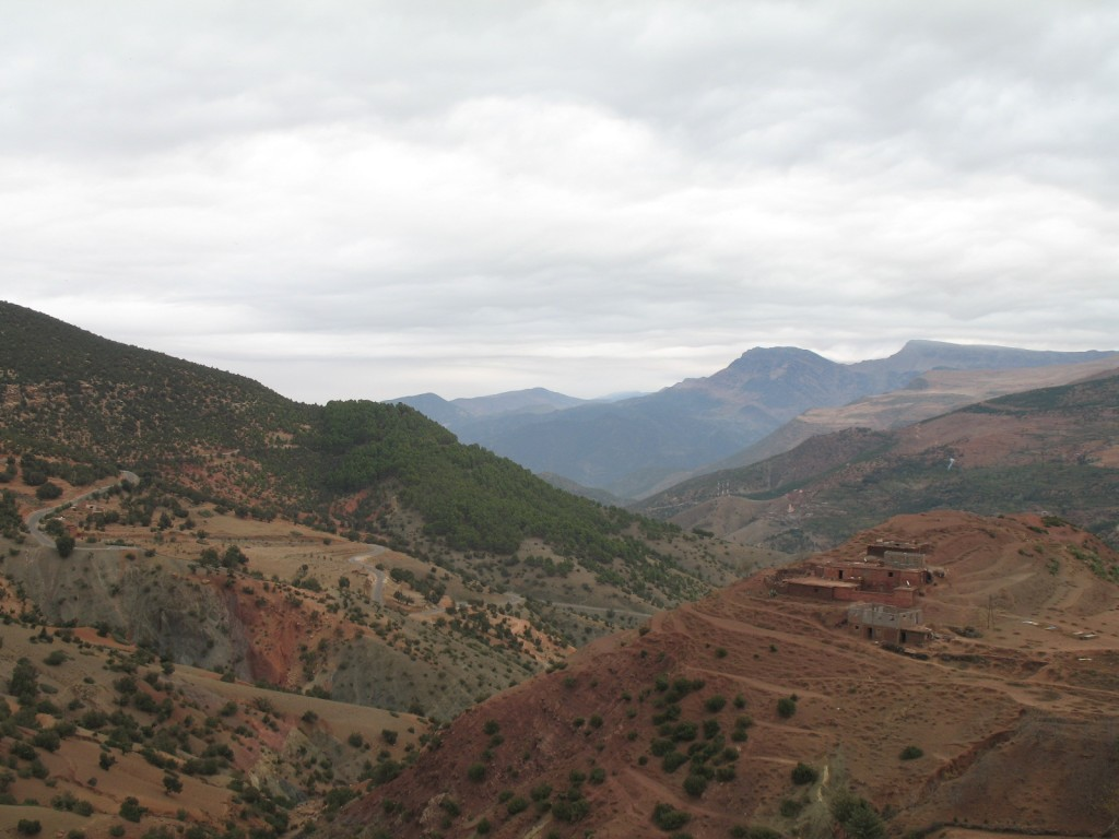 The Atlas mountains - Quite a view to wake up to